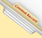 Criminal Record words on a manila file folder tab — Stock Photo