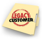 Legacy Customer words stamped on a manila file folder for a client — Stock Photo