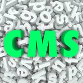 CMS letters in acronym for Content Management System — Stock Photo