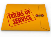Terms of Service words on stamp — Stock Photo