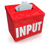 Input word on a 3D red box — Foto de Stock
