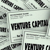Venture Capital words on checks — Stock Photo