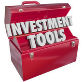 Investment Tools words in 3D letters — Stock Photo