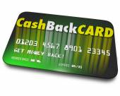 Cash Back Card words on a credit card — Foto de Stock