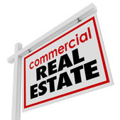 Commercial Real Estate sign to advertise — Stock Photo