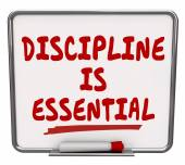 Discipline is Essential words on a dry erase board — Stock Photo
