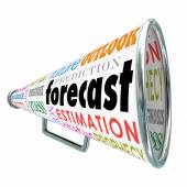 Forecast word on a megaphone or bullhorn — Stock Photo