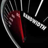 Bandwidth word on a speedometer — Stock Photo