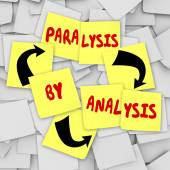 Paralysis by Analysis words on sticky notes — Stok fotoğraf