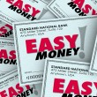 Easy Money words on checks — Stock Photo #61979191