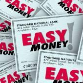 Easy Money words on checks — Stock Photo