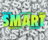 SMART goals or objectives with criteria — 图库照片