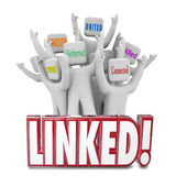 People marketed Networked, Associated, Referred, United, Connected and Allied — Foto de Stock