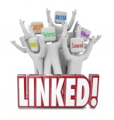 People marketed Networked, Associated, Referred, United, Connected and Allied — Stock Photo
