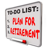 Plan Your Retirement words on a dry erase board — 图库照片