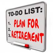 Plan Your Retirement words on a dry erase board — Foto Stock