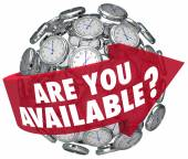 Are You Available question or meeting request — Stock Photo