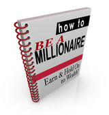 How to Be a Millionaire title words on a book cover — Stock Photo