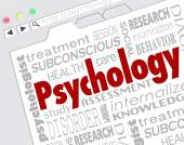 Psychology word on a website screen — Stock Photo