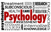 Psychology word in a collage of related terms — Stock Photo