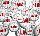 Late word on clocks flying by — Stock Photo