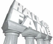 Hall of Fame words in 3d letters — Stock Photo