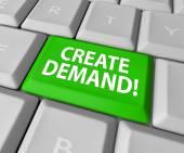 Customer Demand words on a green computer keyboard key — Stock Photo