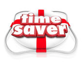 Time Saver words in 3d letters on a life preserver — Stock Photo