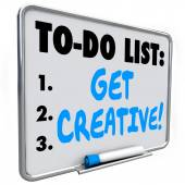 Get Creative words on a to do list — Stock Photo