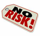 No Risk words on a price tag — Stock Photo