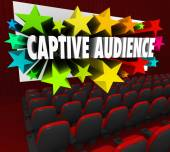 Captive Audience 3d words and stars — Stock Photo