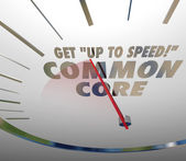Get Up to Speed on Common Core 3d words on a speedometer — ストック写真
