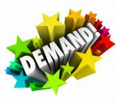 Demand word in colorful stars — Stock Photo