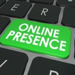 Online Presence words on a computer keyboard key — Stock Photo #65324485