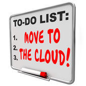 Move to the Cloud words written on message board — Stock Photo