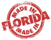 Made in Florida words in round red stamp — Stock Photo