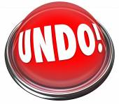 Undo word on a red button — Stock Photo