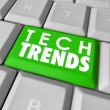 Top Trends words on a green computer keyboard button — Stock Photo #67285403