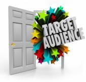 Target Audience 3d words in an open door — Stock Photo