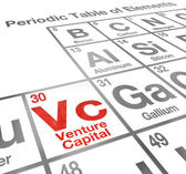 Venture Capital or VC words on a periodic table of elements — Stock Photo