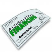Alternative Financing words on a check — Stock Photo