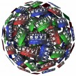 Impulse Buy words on credit cards in a ball — Stock Photo #68043765