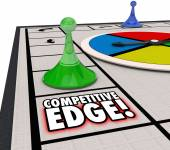 Competitive Edge words on a board game — Foto de Stock
