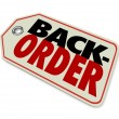 Back Order words on a store or retailer price tag — Stock Photo #68530857