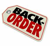 Back Order words on a store or retailer price tag — Stock Photo