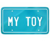 My Toy words on a vehicle license plate — Stock Photo