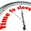 Time to Sleep words on a clock face — Stock Photo #69157539