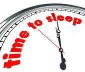 Czas na sen słowa na tarczy zegara — Zdjęcie stockowe