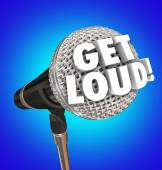 Get Loud words on a microphone — Stock Photo