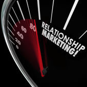 Relationship Marketing Speedometer — Stock Photo